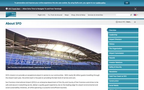 Screenshot of About Page flysfo.com - About SFO   San Francisco International Airport - captured Nov. 7, 2018