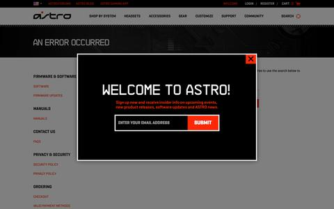 Screenshot of Login Page astrogaming.com - Sites-AGUS-Site - captured Oct. 20, 2015