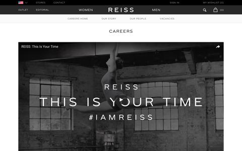 Screenshot of Jobs Page reiss.com - Reiss Careers - captured Nov. 19, 2016