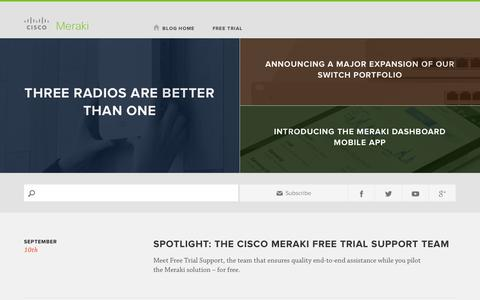 Screenshot of Blog cisco.com - Cisco Meraki Blog - captured Sept. 10, 2014