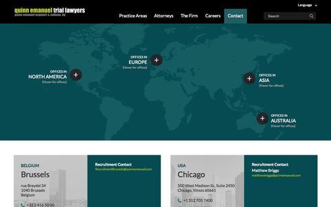 Screenshot of Contact Page Locations Page quinnemanuel.com - Our Locations | Quinn Emanuel Urquhart & Sullivan, LLP - captured Nov. 18, 2015