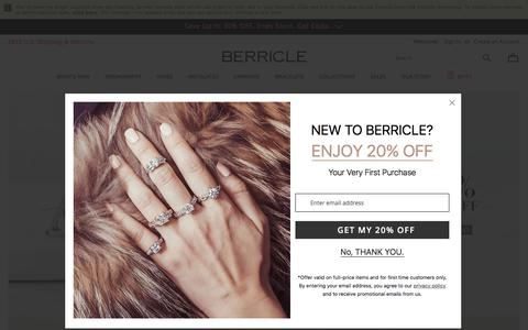 Screenshot of Home Page berricle.com - Wedding & Fashion Jewelry in Sterling Silver, CZ | BERRICLE - captured May 18, 2018