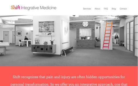 Screenshot of Home Page shift-pt.com - Shift | Integrative Medicine - captured Sept. 30, 2014