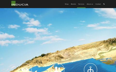 Screenshot of Services Page inducia.com - Services - inducia - captured Sept. 30, 2014