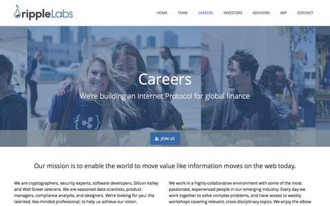 Screenshot of Jobs Page ripplelabs.com - Careers   Ripple Labs - captured Sept. 17, 2014