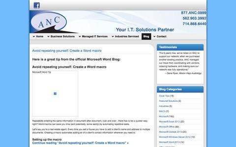 Screenshot of Blog ancsite.com - ANCSITE.COM - captured Oct. 4, 2014