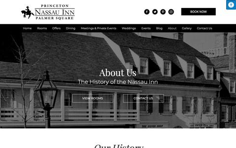 Screenshot of About Page nassauinn.com - Boutique Hotels in Princeton NJ | About The Nassau Inn - captured Oct. 19, 2018