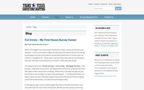 Screenshot of Blog Press Page transtexassurveying.com - Blog Trans Texas Surveying - captured Oct. 26, 2014