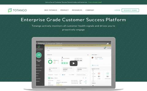 Screenshot of totango.com - Product | Totango | Customer Success Software - captured Feb. 28, 2017