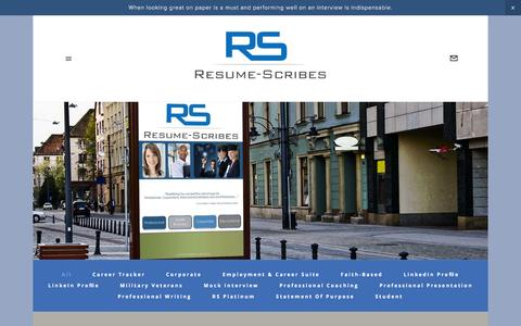 Screenshot of Pricing Page resume-scribes.com - Products & Services Pricing — Resume Scribes - captured Feb. 25, 2016