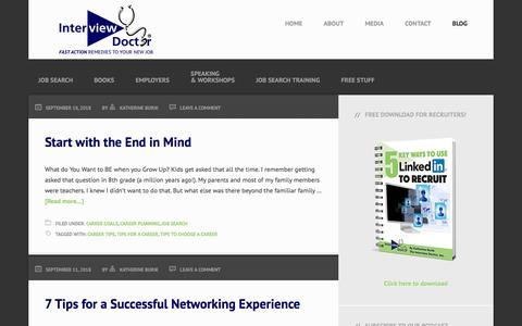 Screenshot of Blog jobinterviewcoaching.org - Blog | Job Interview Coaching - captured Sept. 24, 2018