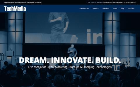 Screenshot of Home Page techmediaco.com - TechMedia | - captured Dec. 3, 2016