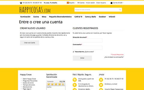 Screenshot of Login Page happycosas.com - Identificador de cliente - captured Sept. 16, 2014