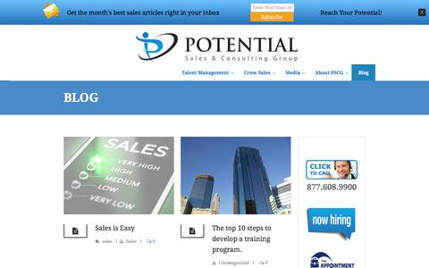 Potential Sales Group | Blog