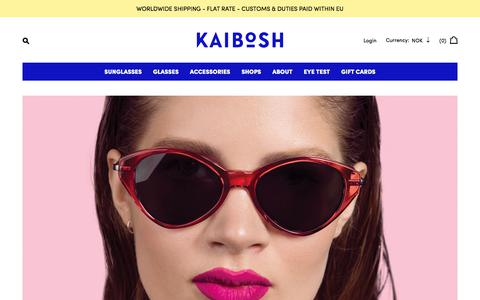 Screenshot of Home Page kaibosh.com - Kaibosh - captured Sept. 20, 2018