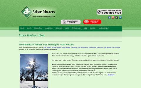 Screenshot of Blog arbormasters.com - Arbor Masters Blog - Tree Service, Lawn Care and Landscape Company - captured Dec. 12, 2018