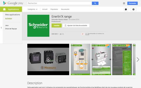 Screenshot of Android App Page google.com - Enerlin'X range - Applications Android sur Google Play - captured Oct. 22, 2014