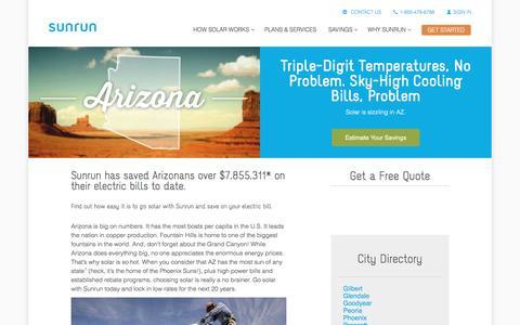 Screenshot of sunrun.com - Arizona Solar Panels & Home Solar Companies   Sunrun - captured March 19, 2016
