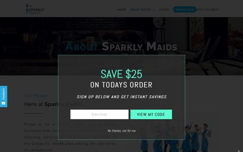 Screenshot of About Page sparklymaids.com - ABOUT • Sparkly Maids - captured Oct. 18, 2018