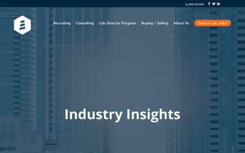 Screenshot of Blog lighthouselabservices.com - Blog | Lighthouse Lab Services - captured May 1, 2018