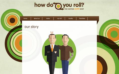 Screenshot of About Page howdoyouroll.com - How Do You Roll - captured July 19, 2014