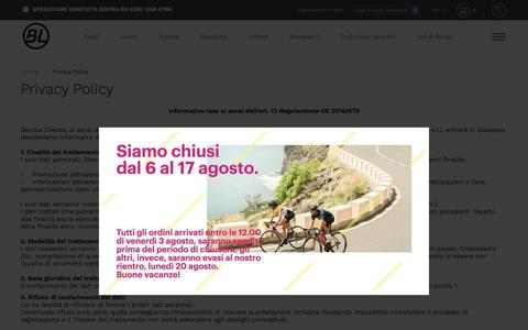 Screenshot of Privacy Page bicycle-line.com - Privacy Policy - captured Aug. 2, 2018
