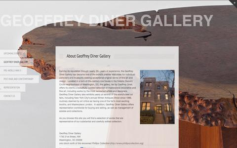Screenshot of About Page dinergallery.com - dinergallery.com » About Geoffrey Diner Gallery - captured Aug. 4, 2015