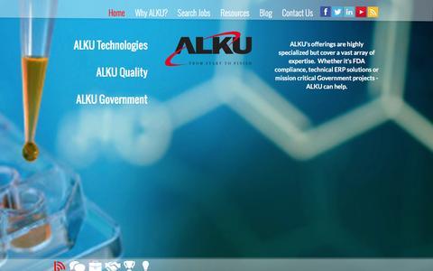Screenshot of Home Page alku.com - ALKU - SAP and PeopleSoft Recruiting Partners and Compliance Staffing - captured Nov. 25, 2015