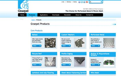 Screenshot of Products Page graepel.ie - Graepel - Graepel Products - captured Oct. 3, 2014