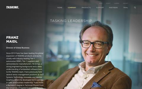 Screenshot of Team Page tasking.com - TASKING Executive Leadership - Overview | TASKING - captured March 2, 2016