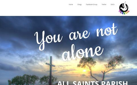 Screenshot of Home Page allsaintsv.com - All Saints Parish – Welcome to All Saints Parish. - captured Oct. 3, 2018