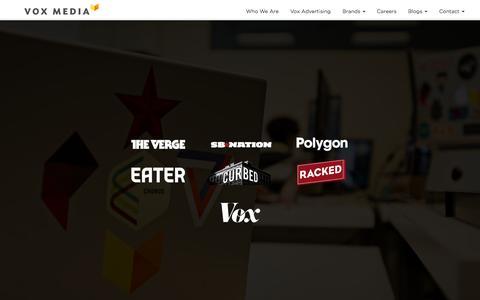 Screenshot of Home Page voxmedia.com - Vox Media - captured Jan. 15, 2015