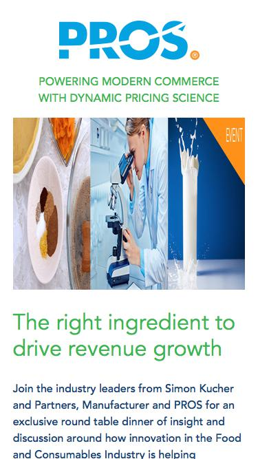 The right ingredient to drive revenue growth  | PROS Events | PROS