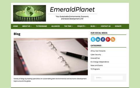 Screenshot of Blog emerald-planet.org - Blog   The EmeraldPlanet - captured Sept. 28, 2018