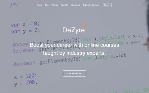 Screenshot of Home Page dezyre.com - Online Training Courses, Certification From Industry Experts - Dezyre - captured Jan. 7, 2016