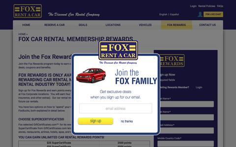 Car Rental Rewards Programs | Car Rental Membership Rewards | FOX Rent A Car
