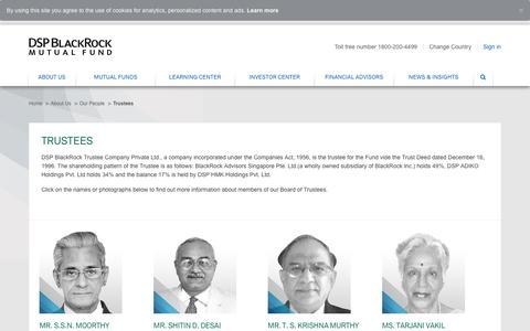 Board of Trustees - DSP BlackRock Trustee Company Private Ltd