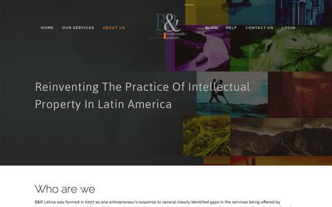 Screenshot of About Page brlatina.com - About Us — B&R Latin America IP LLC - captured Jan. 24, 2016