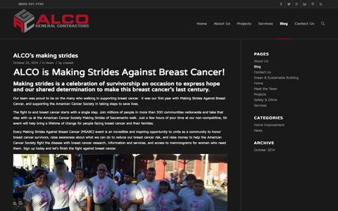 Screenshot of Blog alcogc.com - ALCO General Contractors     Blog - captured Nov. 2, 2014