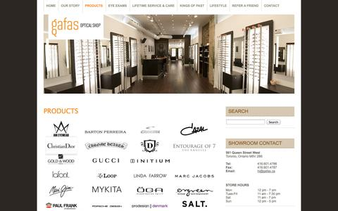 Screenshot of Products Page gafas.ca - Gafas Optical Shop   » Products - captured Oct. 1, 2014