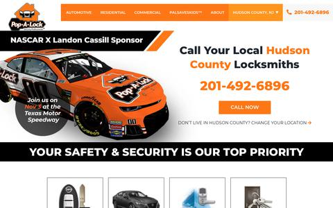 Screenshot of Home Page popalock.com - Pop-A-Lock® - Your Trusted Locksmith for Residential, Business & Automotive - captured Nov. 1, 2019
