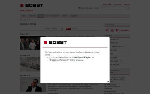 Screenshot of Blog bobst.com - Blog | BOBST Media Center - captured July 13, 2017