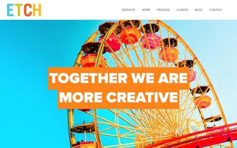 Screenshot of Home Page etchcreative.com - ETCH Creative - captured Sept. 28, 2018