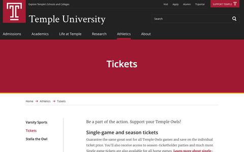 Tickets | Temple University