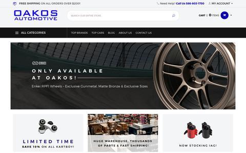 Screenshot of Home Page oakos.com - OAKOS Automotive - captured July 2, 2017
