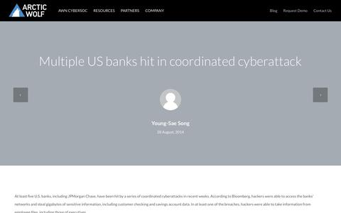 Multiple US banks hit in coordinated cyberattack | Arctic Wolf