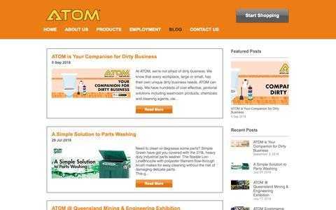 Screenshot of Blog atom.com.au - ATOM - Industrial Hardware & Safety News - captured Oct. 2, 2018