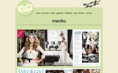 Screenshot of Press Page artofcelebrations.com - wedding planner Toronto - Media - captured Oct. 27, 2014