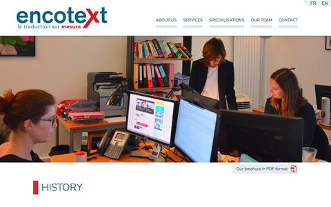 Screenshot of About Page encotext.com - About us : Encotext, Services tailored to your needs - captured March 20, 2018