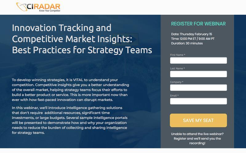 Strategy Team Webinar